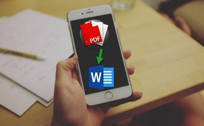 2 free ways to convert pdf to word on iphone, ipad.